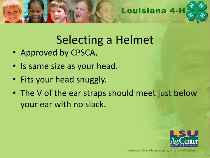 Selecting a Helmet