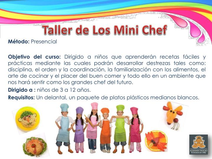 Taller de Los Mini Chef