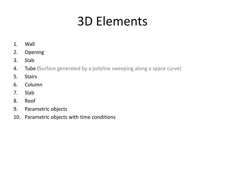 3D Elements