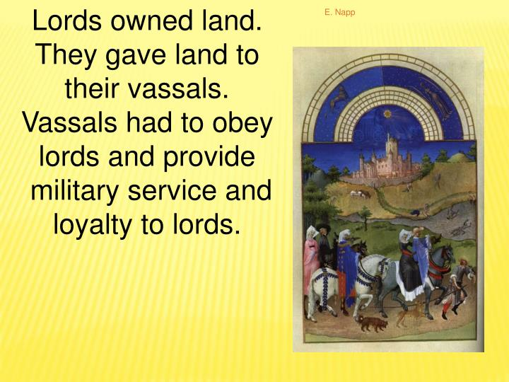 Lords owned land.