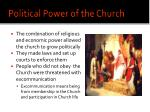 political power of the church