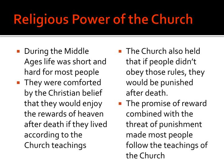 Religious Power of the Church