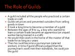 the role of guilds