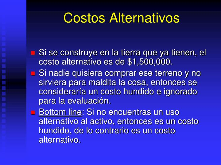 Costos Alternativos