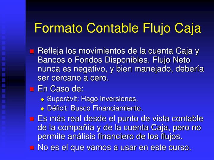 Formato Contable Flujo Caja