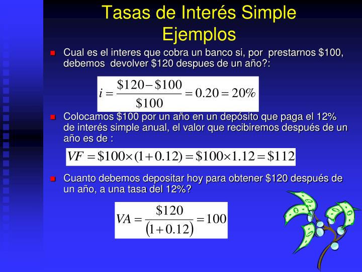 Tasas de Interés Simple