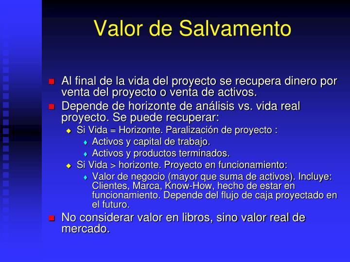 Valor de Salvamento