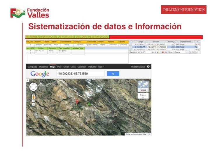 Sistematización de datos e Información