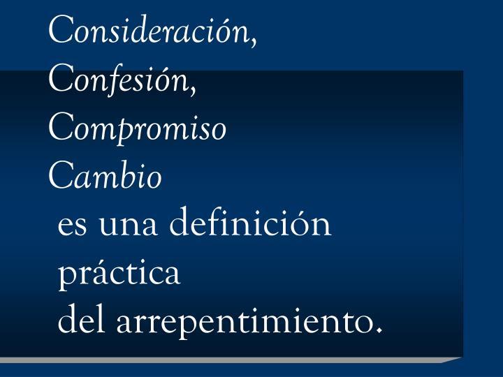 Consideración,