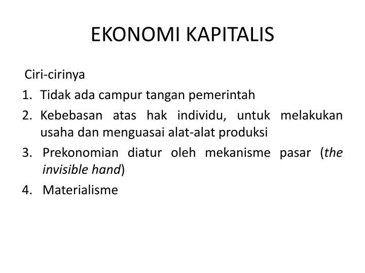 EKONOMI KAPITALIS
