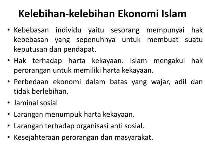 Kelebihan-kelebihan Ekonomi Islam