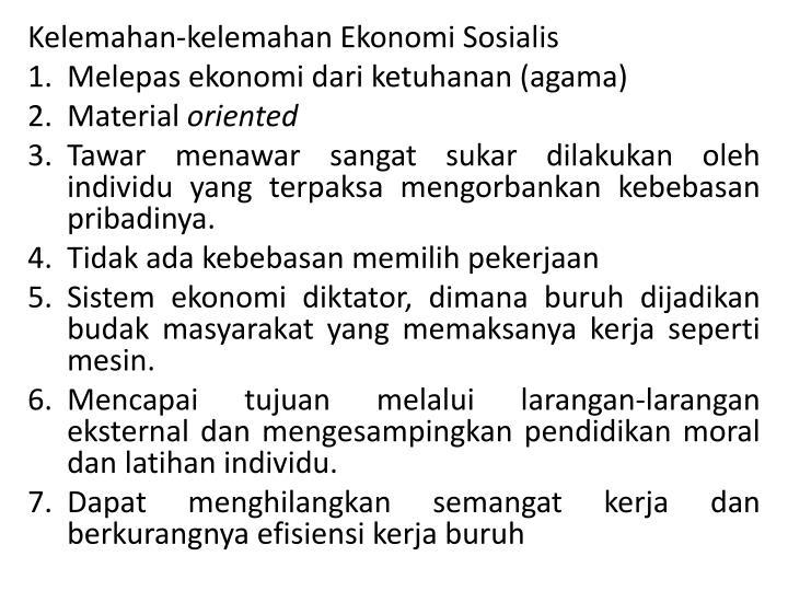 Kelemahan-kelemahan Ekonomi Sosialis