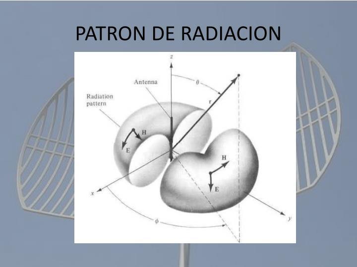 PATRON DE RADIACION
