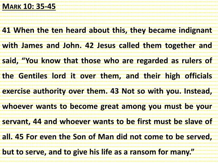 Mark 10: 35-45