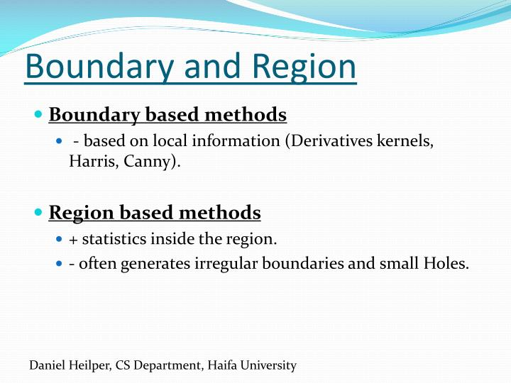 Boundary and Region