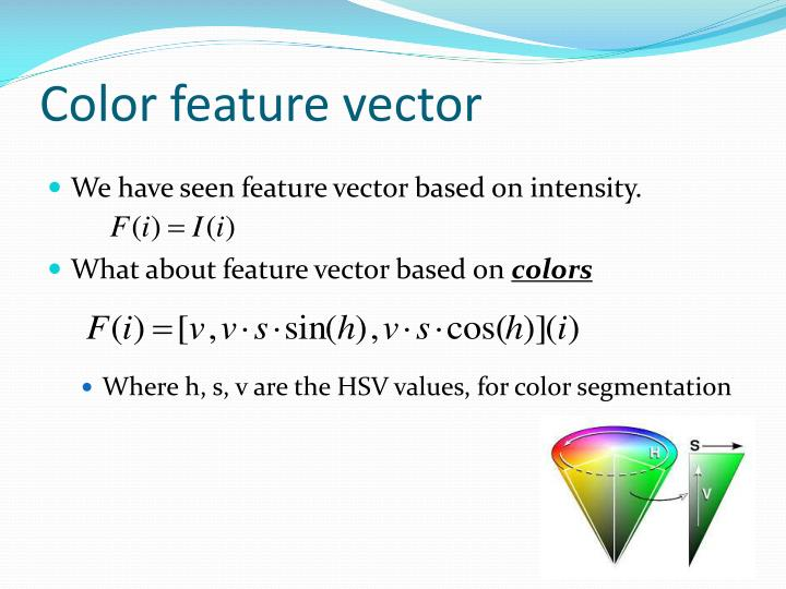 Color feature vector