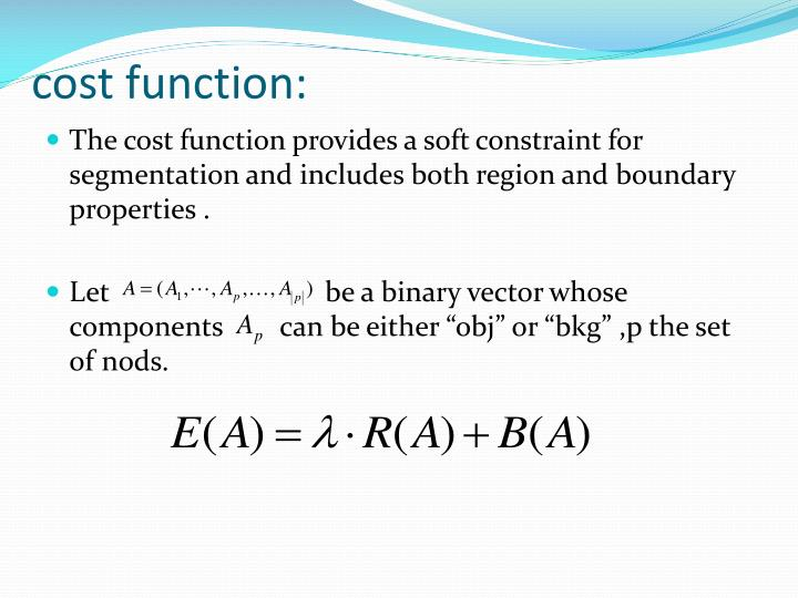 cost function: