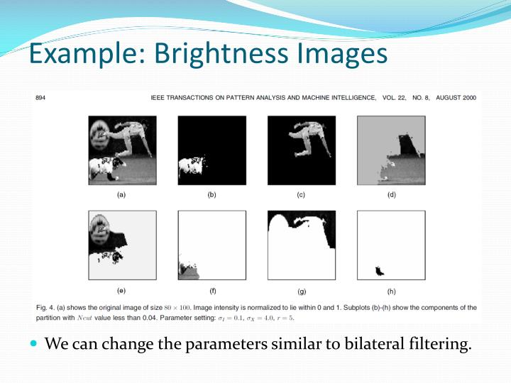 Example: Brightness Images