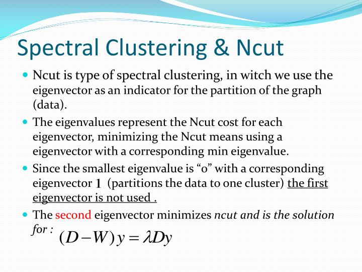 Spectral Clustering &