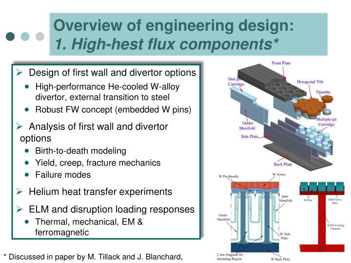 Overview of engineering design: