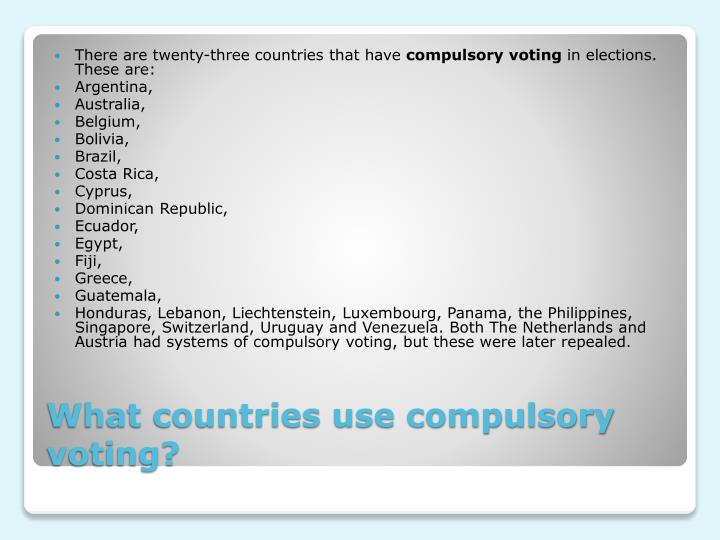 There are twenty-three countries that have