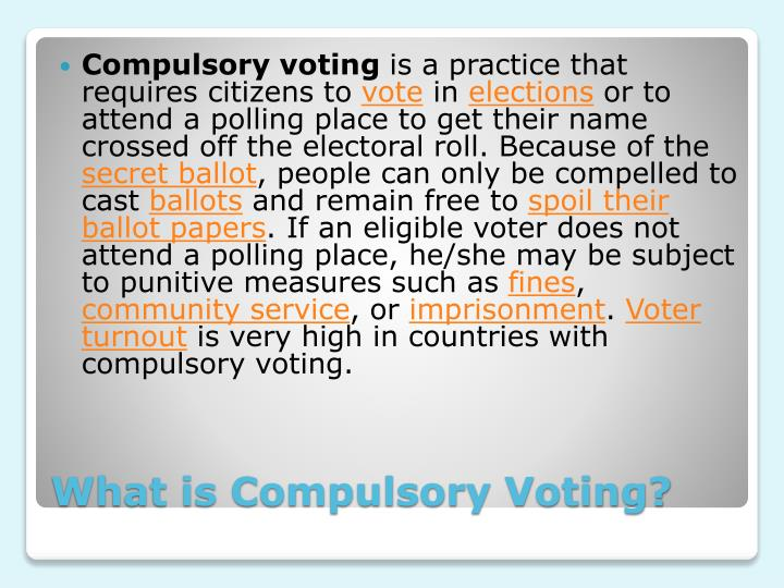 What is compulsory voting