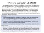 proyecto curricular objetivos