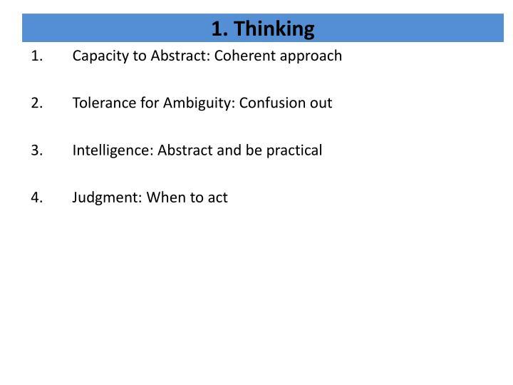 1. Thinking