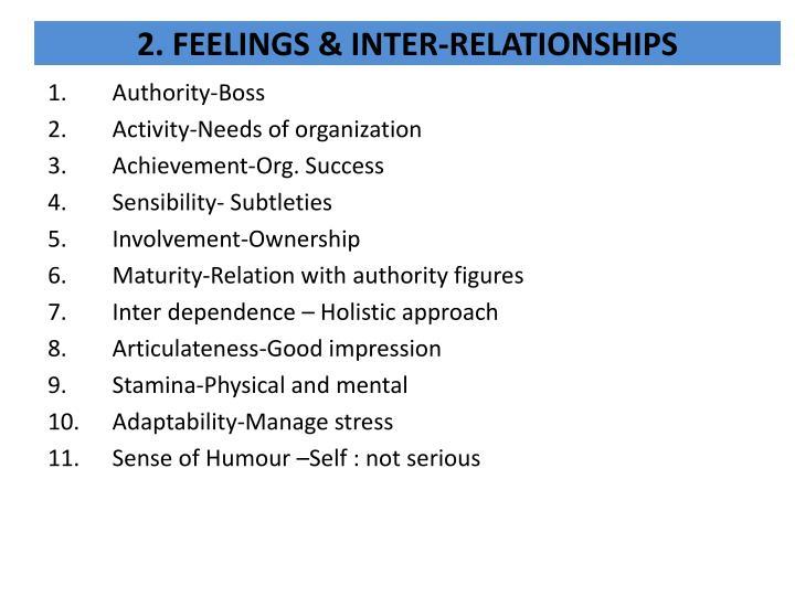 2. FEELINGS &
