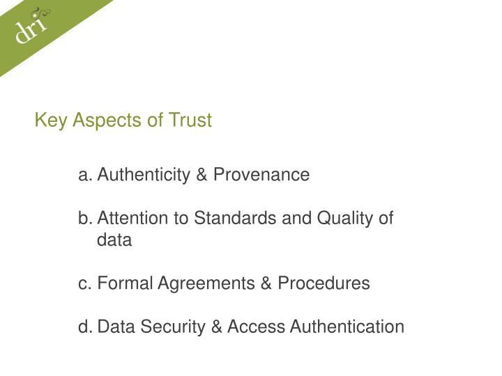 Key Aspects of Trust