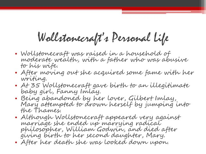 Wollstonecraft's Personal Life