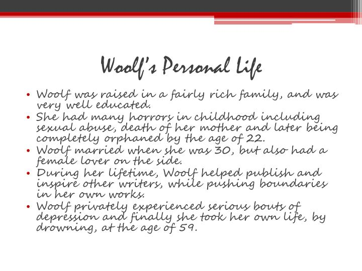 Woolf's Personal Life