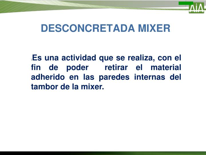 DESCONCRETADA MIXER
