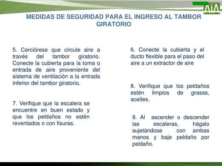 MEDIDAS DE SEGURIDAD PARA EL INGRESO AL TAMBOR GIRATORIO