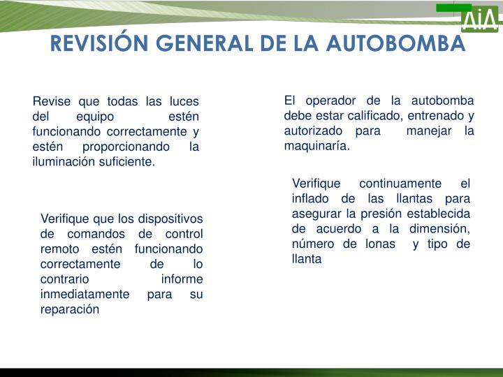 REVISIÓN GENERAL DE LA AUTOBOMBA