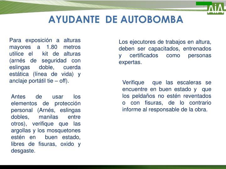 AYUDANTE  DE AUTOBOMBA