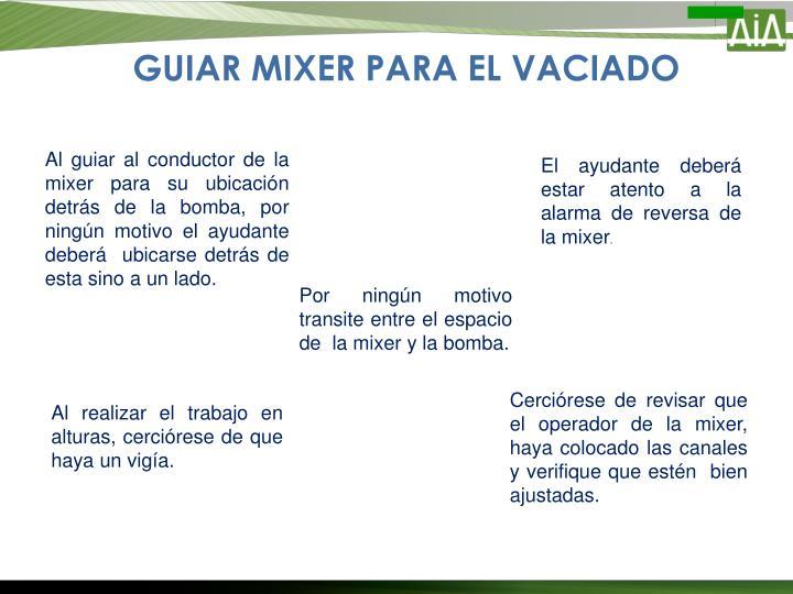 GUIAR MIXER PARA EL VACIADO
