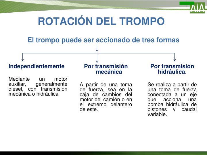 ROTACIÓN DEL TROMPO