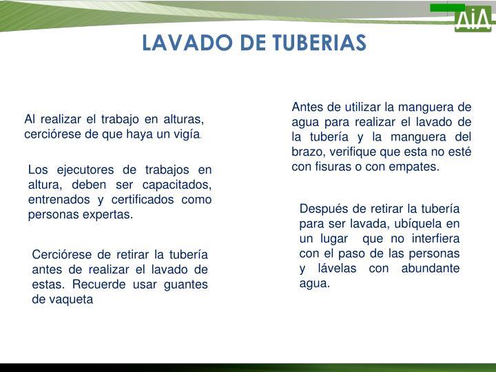 LAVADO DE TUBERIAS