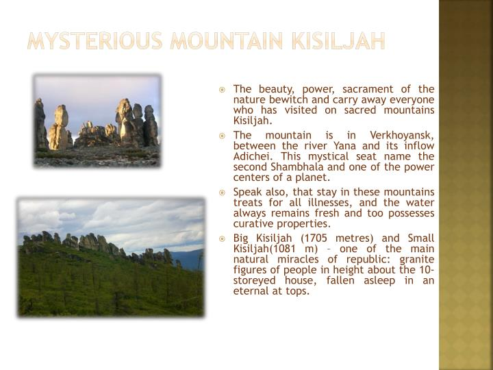 Mysterious mountain kisiljah
