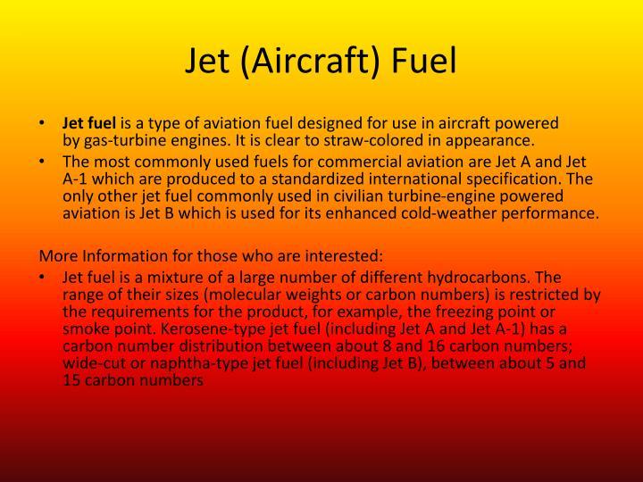 Jet (Aircraft) Fuel