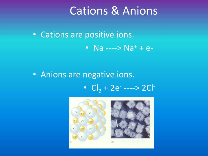 Cations & Anions
