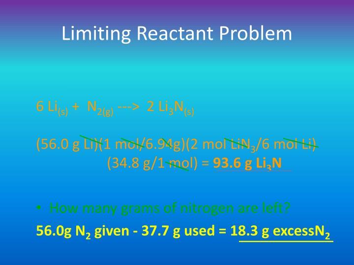 Limiting Reactant Problem