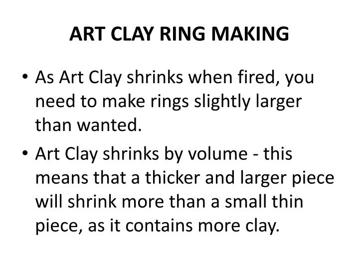 ART CLAY RING MAKING