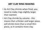 art clay ring making