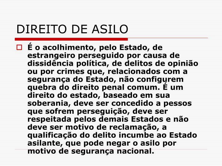 DIREITO DE ASILO