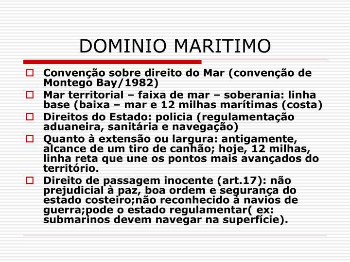 DOMINIO MARITIMO