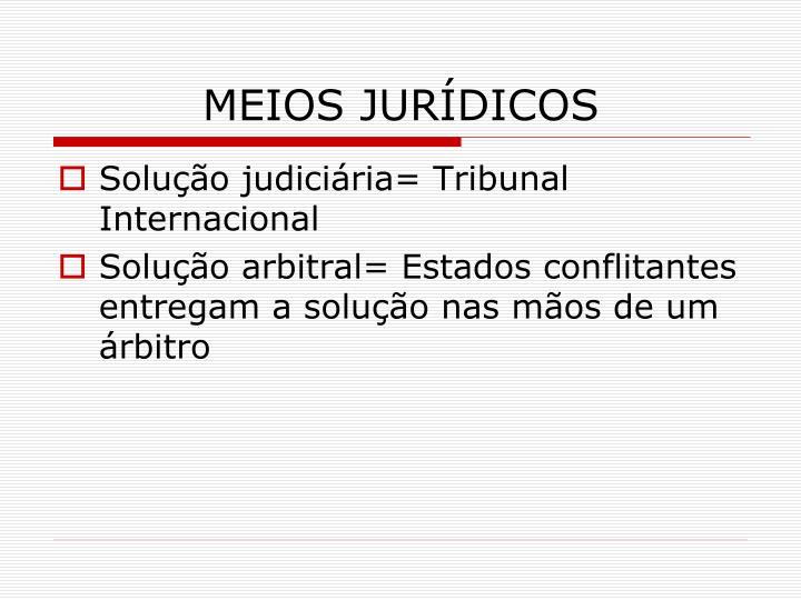 MEIOS JURÍDICOS