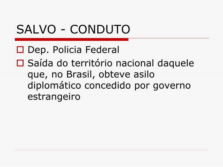 SALVO - CONDUTO