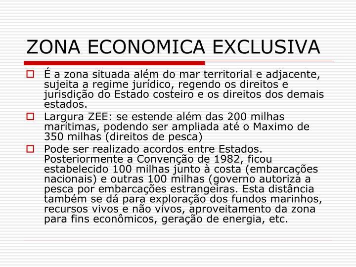 ZONA ECONOMICA EXCLUSIVA